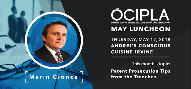 OCIPLA May 2018 Luncheon Banner - Thursday, May 17, 2018