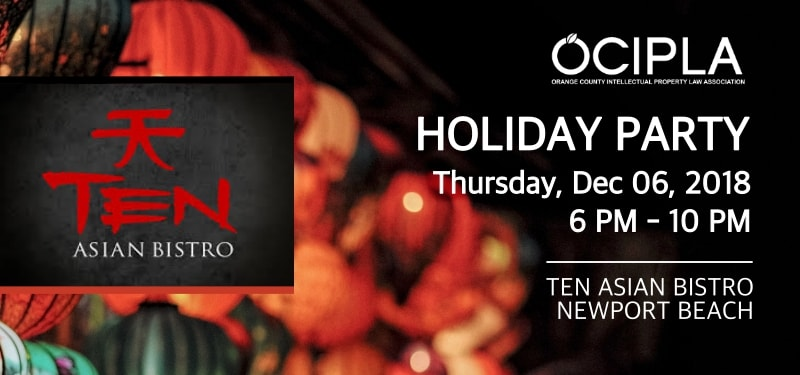 OCIPLA Holiday Party announcement