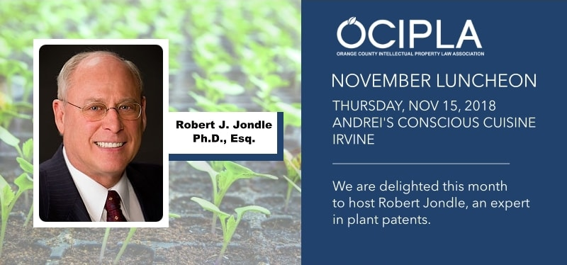 OCIPLA November Luncheon 2018 featuring Robert Jondle