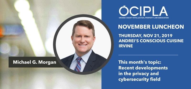 Announcement for OCIPLA November 2019 Luncheon in Irvine, CA